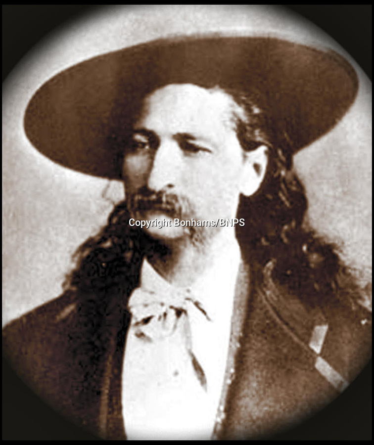 BNPS.co.uk (01202) 558833<br /> Picture: Bonhams<br /> <br /> Gunslinger Bill Hickok <br /> <br /> A pistol belonging to famed American Old West gunslinger 'Wild' Bill Hickok has emerged 150 years after he was murdered. Hickok, a lawman known as the best shot in the West, was playing poker with pals at a saloon in Deadwood, South Dakota, when he was shot in the back of the head by 'Crooked Nose' Jack McCall, in 1876. He was holding two black aces, two black eights and another unknown card, which went on to become known as the 'dead man's hand'. The gun boasts a .32 rimfire, a six-inch barrel, blued finish and varnished rosewood grips. Buyers will need a fistful of dollars if they want to get their hands on the legendary shooter - as it comes with a whopping £320,000 price tag.
