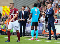 Fleetwood Town manager Uwe Rosler applauds his team <br /> <br /> Photographer Andrew Kearns/CameraSport<br /> <br /> The EFL Sky Bet League One - Northampton Town v Fleetwood Town - Saturday August 12th 2017 - Sixfields Stadium - Northampton<br /> <br /> World Copyright &copy; 2017 CameraSport. All rights reserved. 43 Linden Ave. Countesthorpe. Leicester. England. LE8 5PG - Tel: +44 (0) 116 277 4147 - admin@camerasport.com - www.camerasport.com