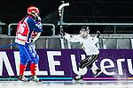 Solna 2014-03-15 Bandy SM-final Damer Kareby IS - AIK  :  <br /> AIK:s Linnea Linn&eacute;a Larsson jublar efter att ha gjort 1-1<br /> (Foto: Kenta J&ouml;nsson) Nyckelord:  SM SM-final final dam damer Kareby AIK jubel gl&auml;dje lycka glad happy
