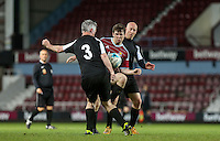 Danny Boy Hatchard (Eastenders) as West Ham United supporters say farewell to the Boleyn ground playing a friendly match on the pitch at the Boleyn Ground, London, England on 20 May 2016. Photo by Andy Rowland.