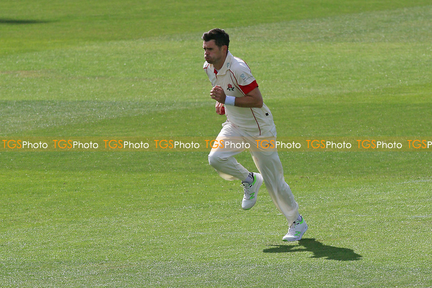 Jimmy Anderson runs in to bowl for Lancashire during Essex CCC vs Lancashire CCC, Specsavers County Championship Division 1 Cricket at The Cloudfm County Ground on 10th April 2017