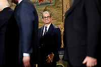 Minister of Economy Giovanni Tria<br /> Rome December 19th 2018. Quirinale. Traditional exchange of Christmas wishes between the President of the Republic and the institutions.<br /> Foto Samantha Zucchi Insidefoto