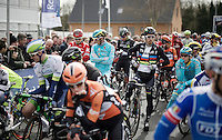 Peter Sagan (SVK/Tinkoff) showing off his rainbow colours at the start<br /> <br /> E3 - Harelbeke 2016
