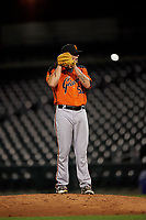AZL Giants Orange relief pitcher Jake Greenwalt (53) during an Arizona League game against the AZL Cubs 1 on July 10, 2019 at Sloan Park in Mesa, Arizona. The AZL Giants Orange defeated the AZL Cubs 1 13-8. (Zachary Lucy/Four Seam Images)