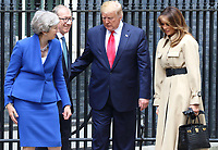 US President Donald Trump and First Lady Melania Trump visit No 10 Downing Street on the second day of the State Visit to the UK. June 4th 2019<br />