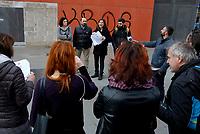 Roma, 22 Febbraio 2019<br /> Stazione Tiburtina<br /> L'Avvocato Alessandro Ferraro, Giovanna Cavallo.<br /> Conferenza stampa dell'associazione The Baobab Experience per illustrare l'azione dei 41 migranti che hanno chiesto un risarcimento al Ministro dell'Interno Matteo Salvini e al Premier Giuseppe Conte. Lo scorso 20 agosto una nave, che trasportava 177 migranti (tra cui molti minori), ha attraccato nel porto di Catania, ma il Ministro Salvini ha deciso di bloccare in mare i migranti della nave Diciotti. Per questo motivo i ministri saranno perseguiti dai migranti, che chiederanno da 42 a 71 mila euro ciascuno a titolo di risarcimento.