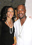 Shortstop Jimmy Rollins and wife Johari at  the Hamels Foundation as it presents Diamonds & Denim on August 27, 2012 at the Crystal Tea Room, Philadelphia, Pennsylvania.  (Photo by Sue Coflin/Max Photos)