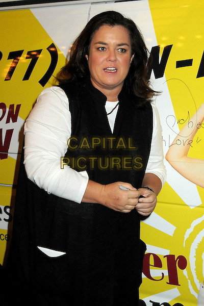 "ROSIE O'DONNELL .""The Million Dollar Revival"" Benefit for Fran Drescher's Cancer Schmancer Charity Movement held at the Million Dollar Theatre, Los Angeles, California, USA..December 13th, 2009.half length black white jacket top sleeveless .CAP/ADM/BP.©Byron Purvis/AdMedia/Capital Pictures."