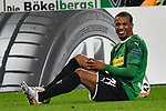 07.11.2019, Borussia-Park - Stadion, Moenchengladbach, GER, EL, Borussia Moenchengladbach vs. AS Roma, UEFA regulations prohibit any use of photographs as image sequences and/or quasi-video<br /> <br /> im Bild Alassane Plea (#14, Borussia Moenchengladbach) verletzt am Boden <br /> <br /> Foto © nordphoto/Mauelshagen