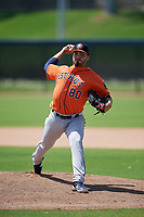 Houston Astros pitcher Jose Hernandez (80) during a Minor League Spring Training Intrasquad game on March 28, 2019 at the FITTEAM Ballpark of the Palm Beaches in West Palm Beach, Florida.  (Mike Janes/Four Seam Images)