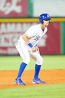 Bubba Starling #23 of the Burlington Royals takes his lead off of second base against the Bristol White Sox at Burlington Athletic Park on July 6, 2012 in Burlington, North Carolina.  The Royals defeated the White Sox 5-2.  (Brian Westerholt/Four Seam Images)