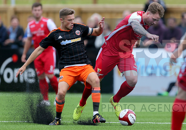 Regan Slater of Sheffield Utd during the pre season match at the Flamingo Land Stadium, Scarborough. Picture date 15th July 2017. Picture credit should read: Richard Sellers/Sportimage