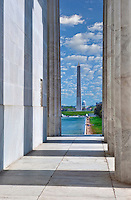Lincoln Memorial, Columns, Reflecting Pond, National Mall, Washington DC