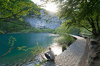 Walkway on the lower lakes, Plitvice Lakes NP, Croatia