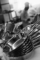 """Europe/France/Provence-Alpes-Côte d'Azur/06/Alpes-Maritimes/Cannes: Dans les cuisines de """"La Palme d'Or"""" restaurant de l'Hotel Martinez"""