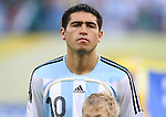 24 June 2006: Juan Riquelme (ARG). Argentina (1st place in Group C) defeated Mexico (2nd place in Group D) 2-1 after extra time at the Zentralstadion in Leipzig, Germany in match 50, a Round of 16 game, in the 2006 FIFA World Cup.