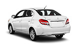 Car pictures of rear three quarter view of 2018 Mitsubishi Mirage-G4 SE-CVT 4 Door Sedan Angular Rear