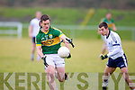 Kerry's Stephen O'Brein pulls away from IT Tralee's John Horgan and Sean T Dillon in the McGrath cup.