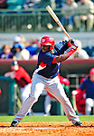 4 March 2010: Washington Nationals' outfielder Leonard Davis in action during the Nationals-Astros Grapefruit League Opening game at Osceola County Stadium in Kissimmee, Florida. The Houston Astros defeated the Nationals split-squad 15-5 in Spring Training action. Mandatory Credit: Ed Wolfstein Photo