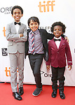 Aiden Akpan, Callan Farris, and Reece Cody attends the 'Kings' premiere during the 2017 Toronto International Film Festival at Roy Thomson Hall on September 13, 2017 in Toronto, Canada.