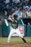Mason Davis (7) of the Greensboro Grasshoppers at bat against the Greenville Drive at NewBridge Bank Park on August 17, 2015 in Greensboro, North Carolina.  The Drive defeated the Grasshoppers 5-4 in 13 innings.  (Brian Westerholt/Four Seam Images)