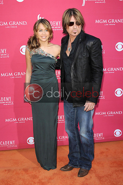 Billy Ray Cyrus and Miley Cyrus<br />