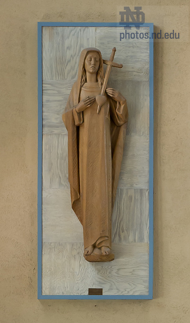 June 26, 2012; Statue of Mary in Columba Hall chapel..Photo by Matt Cashore/University of Notre Dame