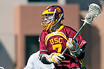 Los Angeles, CA 02/20/10 - Andrew Smulligan (USC # 7) in action during the USC-Loyola Marymount University MCLA/SLC divisional game at Leavey Field (LMU).  LMU defeated USC 10-7.