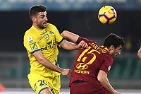 Filip Djordjevic of AC Chievo Verona , Ivan Marcano of AS Roma <br /> Verona 8-2-2019 Stadio Bentegodi Football Serie A 2018/2019 Chievo Verona - AS Roma <br /> Foto Image Sport / Insidefoto