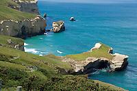 Tunnel Beach on the Otago Coast near Dunedin