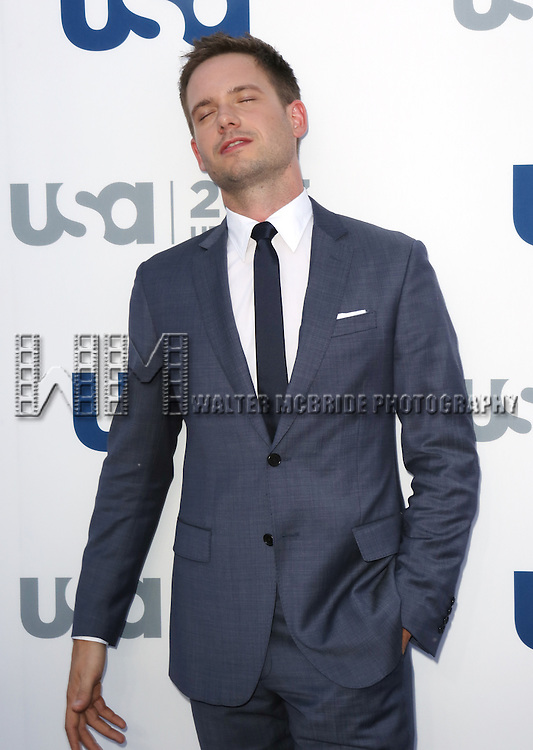 Patrick J. Adams attending the USA Network 2013 Upfront Event at Pier 36 - Basketball City in New York City on May 16, 2013.
