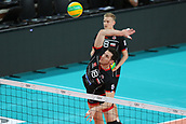 20th March 2018, PalaTrento, Trento, Italy; CEV Volleyball Champions League, playoffs, 1st leg; Trentino Diatec versus Chaumont VB 52 Haute Marne; 18 Francesco De Marchi ITA smashes the ball