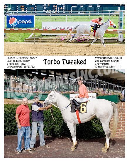Turbo Tweaked winning at Delaware Park on 10/17/12