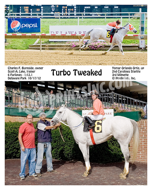 Turbo Tweaked winning at Delaware Park on 10/17/12