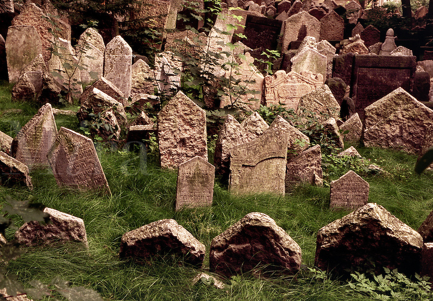 Old Jewish cemetery Prague Czech Republic.