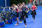 June 11th 2017, Leeds, Yorkshire, England; ITU World Triathlon Leeds 2017; Jessica Learmonth changes to get on her bike