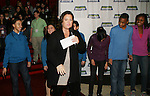 Rosie O'Donnell (All My Children) heads up the 13th Kids Night on Broadway at Madame Toussaud's Wax Museum in New York City. It is now possible for kids to go free to Broadway plays with a paying adult each month. Also many Broadway actors gave their time to signing for the kids. (Photo by Sue Coflin/Max Photos)