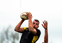 Chris Middleton takes lineout ball during the Mitre 10 Cup preseason rugby match between the Wellington Lions and Manawatu Turbos at Otaki Domain in Otaki, New Zealand on Sunday, 6 August 2017. Photo: Dave Lintott / lintottphoto.co.nz