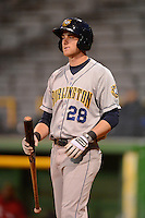 Burlington Bees designated hitter Michael Bolaski #28 during a game against the Clinton LumberKings on May 23, 2013 at Ashford University Field in Clinton, Iowa.  Clinton defeated Burlington 6-5.  (Mike Janes/Four Seam Images)
