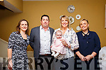Baby Maria with her parents Colin & Mairead Wallace, Glin, Co. Limerick and god parents Sheena Flynn & Lisa Henderson who was christened in Glin Church by Fr. Tom Crawford on Sunday last and afterwards at the Listowel Arms Hotel.