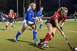 Ruesselsheim, Germany, October 11: During the 1. Hockey Bundesliga women match between Ruesselsheimer RK and Mannheimer HC on October 11, 2019 at Ruesselsheimer RK in Ruesselsheim, Germany. Final score 1-3. (Copyright Dirk Markgraf / 265-images.com) *** Hannah Leigh #3 of Mannheimer HC