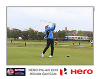 Playing with Aaron Rai (ENG) on the 10th tee during the Pro-Am of the Betfred British Masters 2019 at Hillside Golf Club, Southport, Lancashire, England. 08/05/19<br /> <br /> Picture: Thos Caffrey / Golffile<br /> <br /> All photos usage must carry mandatory copyright credit (© Golffile | Thos Caffrey)