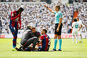 9th September 2017, Santiago Bernabeu, Madrid, Spain; La Liga football, Real Madrid versus Levante; Ivan Lopez (2) of Levante is treated by the physio