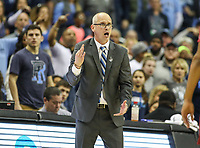 Washington, DC - March 10, 2018: Rhode Island Rams head coach Dan Hurley during the Atlantic 10 semi final game between Saint Joseph's and Rhode Island at  Capital One Arena in Washington, DC.   (Photo by Elliott Brown/Media Images International)