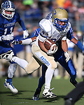 Reed's Jorden Carter runs against Carson during the NIAA D-1 Northern Regional title game at Bishop Manogue High School in Reno, Nev., on Saturday, Nov. 29, 2014. Reed won 28-25.<br /> Photo by Cathleen Allison
