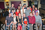 NEWLY WEDS: Danny and Regina Keating, Castlemaine (seated centre) who were married on Friday continuing the celebrations in the Greyhound bar last Saturday evening with family and friends.