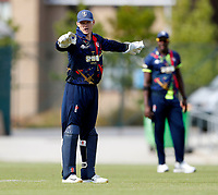 Kent captain Sam Billings directs his field during the T20 friendly between Kent and the Netherlands at the St Lawrence Ground, Canterbury, on July 3, 2018