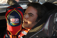 Apr 19, 2007; Avondale, AZ, USA; Nascar Nextel Cup Series driver Jeff Gordon (24) during qualifying for the Subway Fresh Fit 500 at Phoenix International Raceway. Mandatory Credit: Mark J. Rebilas