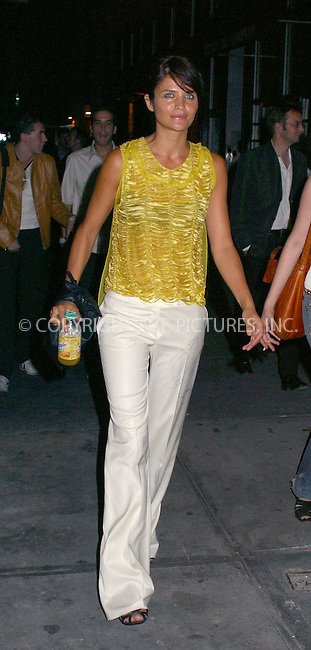 Helena Christiensen attends the New York opening of the first Stella McCartney store worldwide. Meat packing district, New York, September 20, 2002.  Please byline: Alecsey Boldeskul/NY Photo Press.   ..*PAY-PER-USE*      ....NY Photo Press:  ..phone (646) 267-6913;   ..e-mail: info@nyphotopress.com