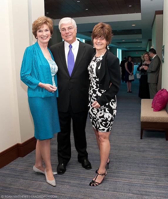 2011 Houston Area Women's Center Community Honorees Linda and Howard McCollum with Corporate Honoree El Paso Corporation representative Susan Ortenstone.
